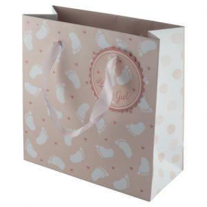 Geschenktüte für Kuscheli Nuscheli Kuschelwindeln für Babyshower Taufe Geburt